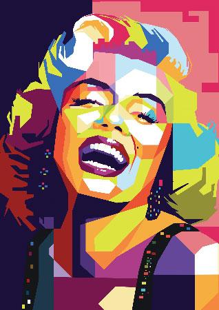 Tableau Marilyn Monroe couleur