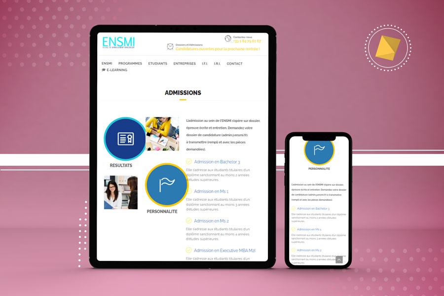 Mockup tablette mobile site ENSMI