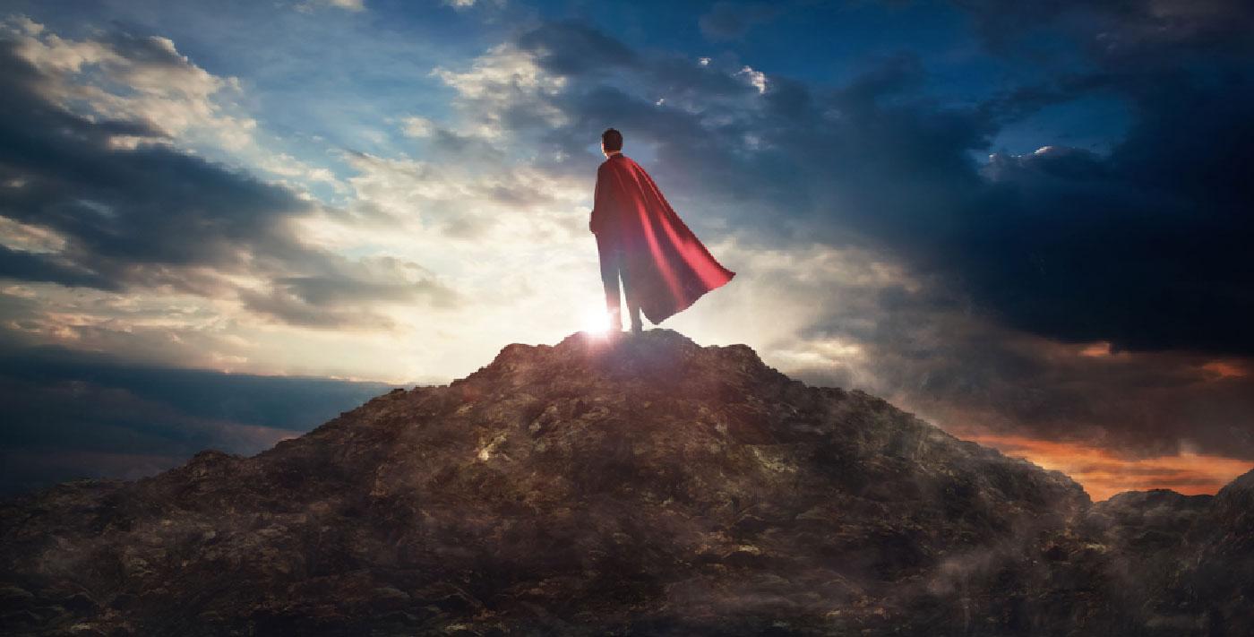 Héros sur une colline