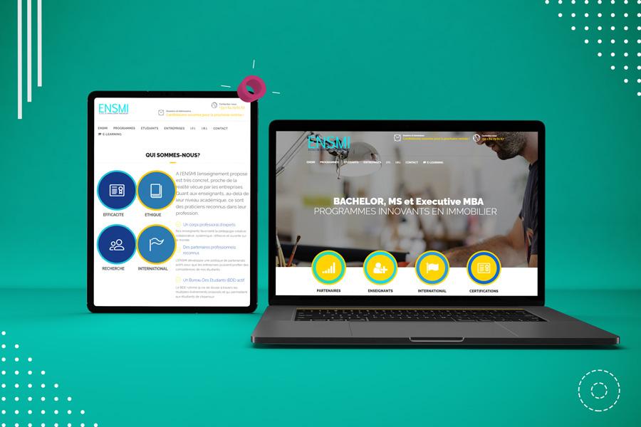 Mockup tablette ordinateur site ENSMI