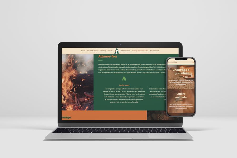 Site Pellets Alsace ordinateur et mobile