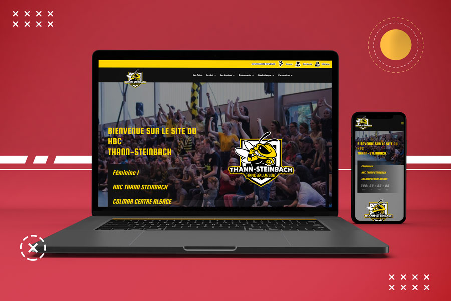 Site web et mobile du club-de-handball Thann Steinbach