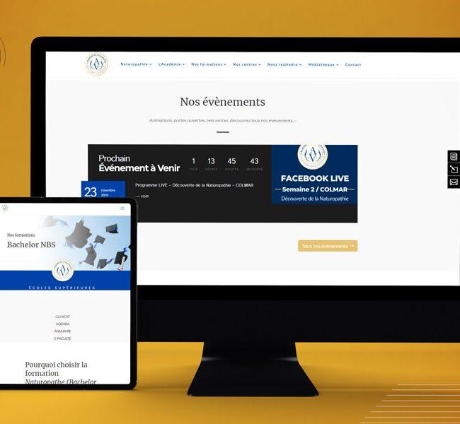 Tablette et ordinateur Académie Vitalopathie