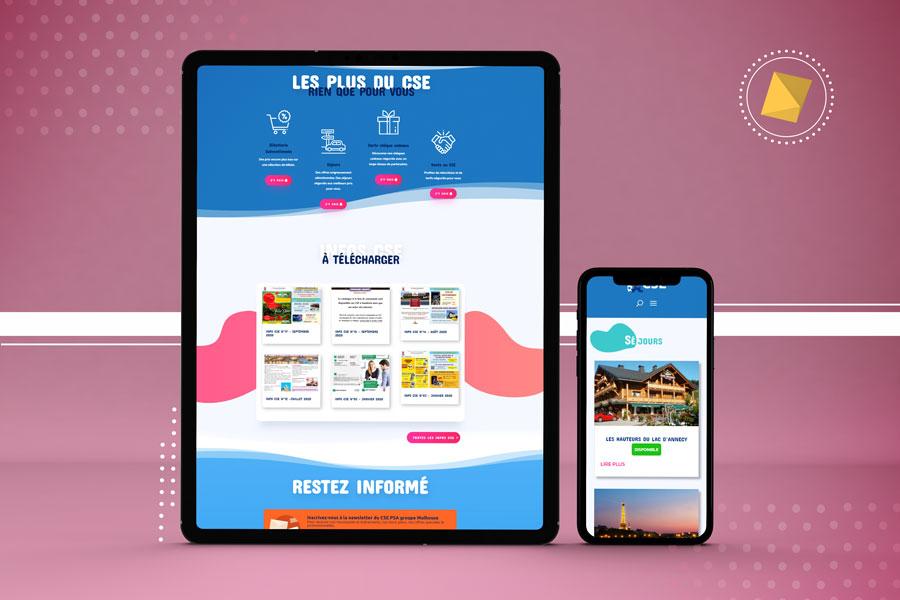 Tablette et téléphone site CSE peugeot