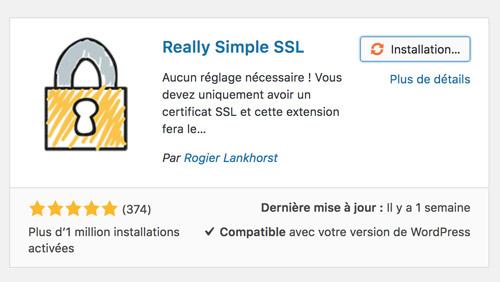 extension wordpress really simple SSL
