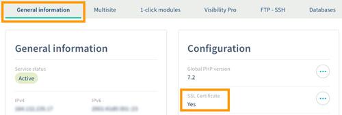 Activer le SSL sur le panneau de contrôle OVH