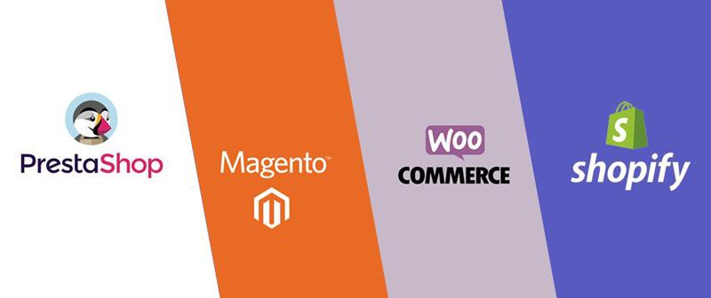 CMS Prestashop, Magento, WordPress et Shopify