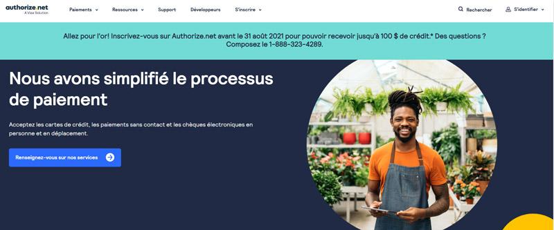 Authorize.net mode de paiement