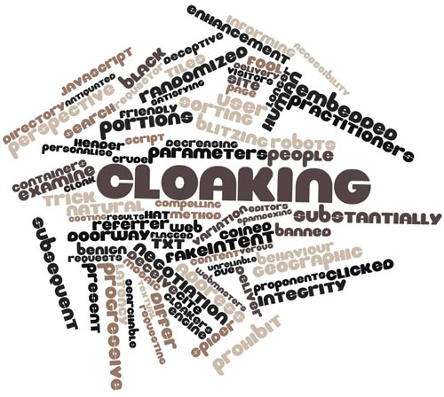 Cloaking SEO et keywords stuffing