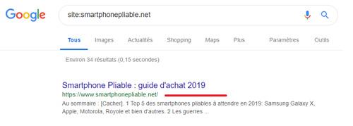 Exemple de site sans cache google