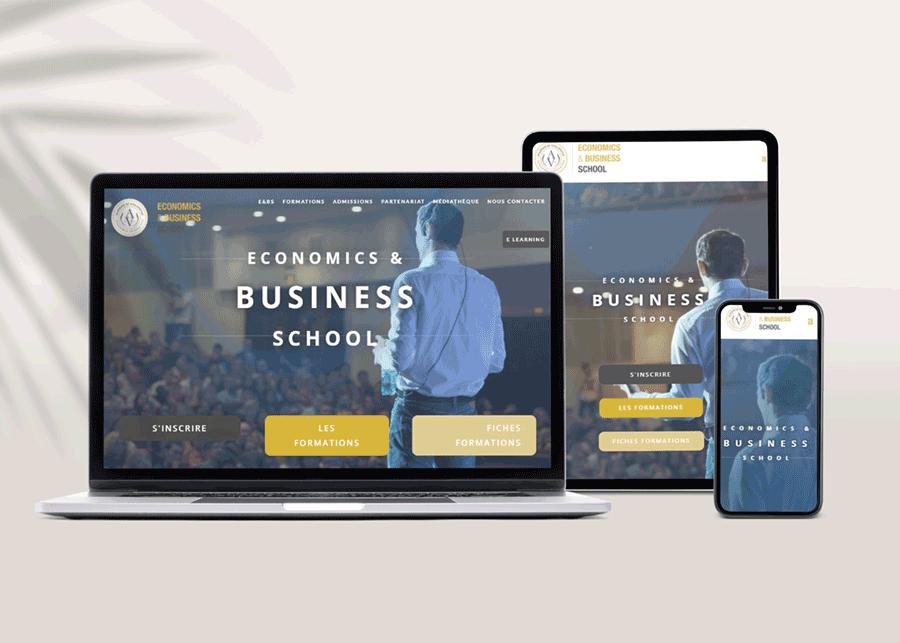photo Site internet Ecole&Business School différents écrans